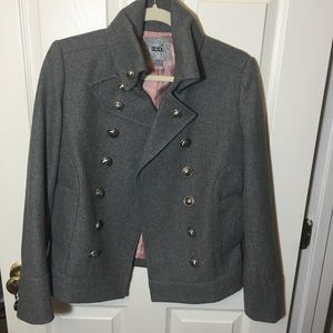 Forever 21| gray pea coat| Size: small